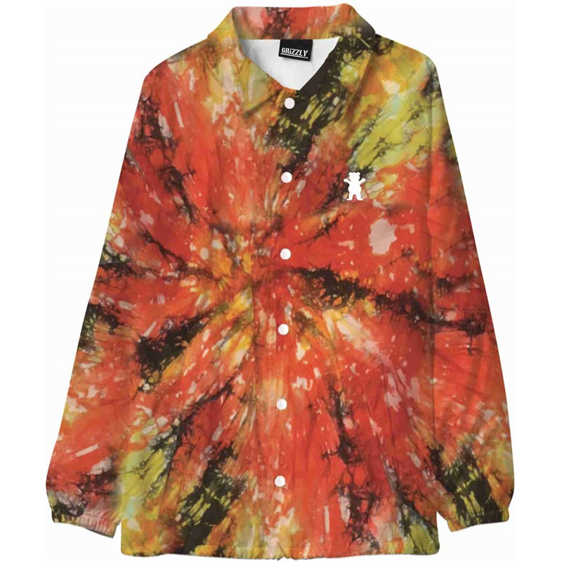 bunda GRIZZLY - Tie Dye Coaches Jacket Tie Dye (TDYE)
