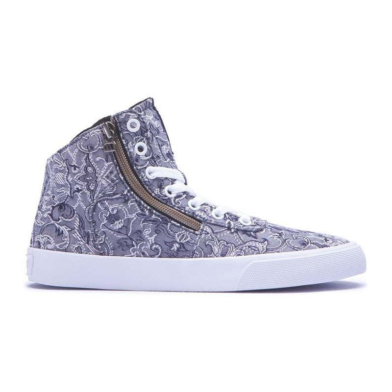 boty SUPRA - Womens Cuttler Grey/Pattern-White (GPA)