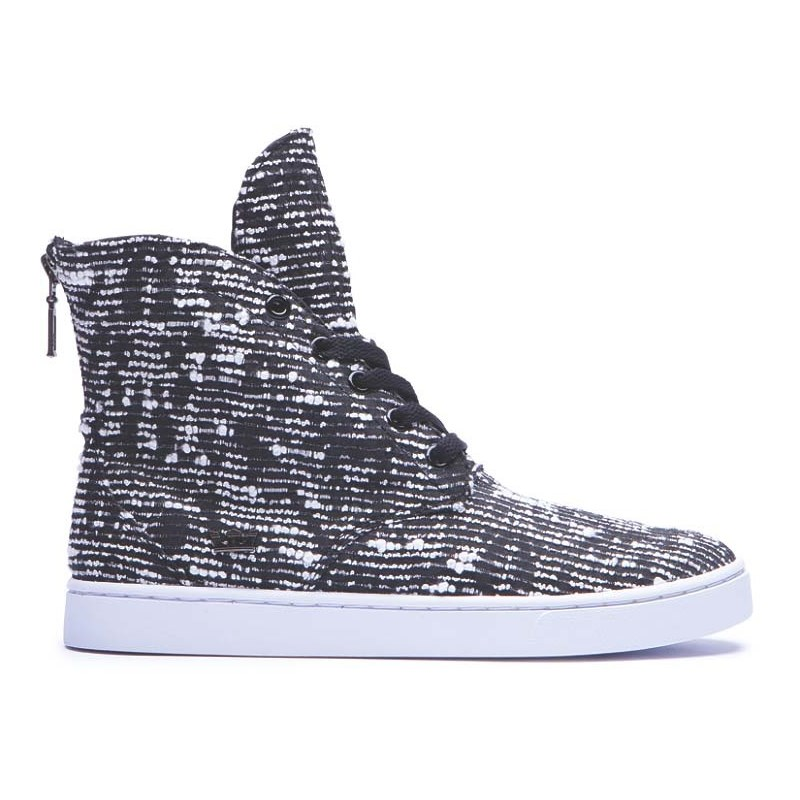 boty SUPRA - Womens Joplin Black/Pattern-White (BPA)