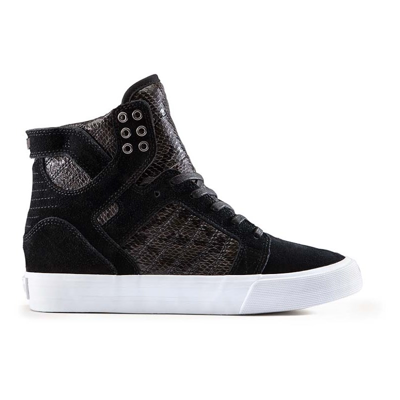 boty SUPRA - Womens Skytop Wedge Black-White (BLK)