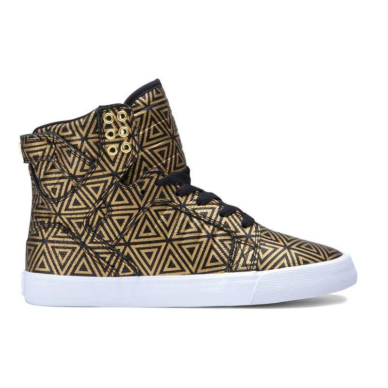 boty SUPRA - Women Skytop Gold/Black (GLB)