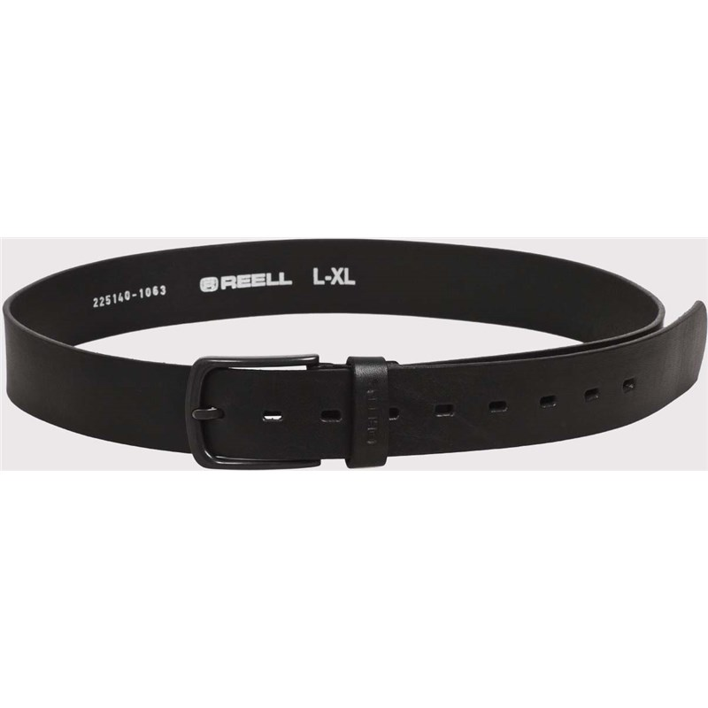 pásek REELL - All Black Buckle Belt Black (BLACK)