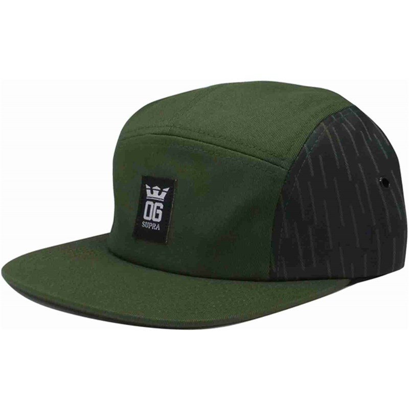 kšiltovka SUPRA - Og Crown 5 Panel Hat Olive-Blk-Wht (314)
