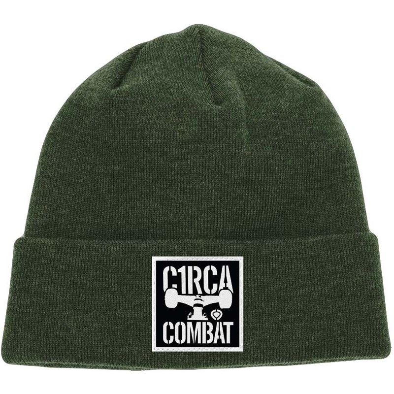 kulich CIRCA - Combat Patch Beanie Olive Green  (OLI)