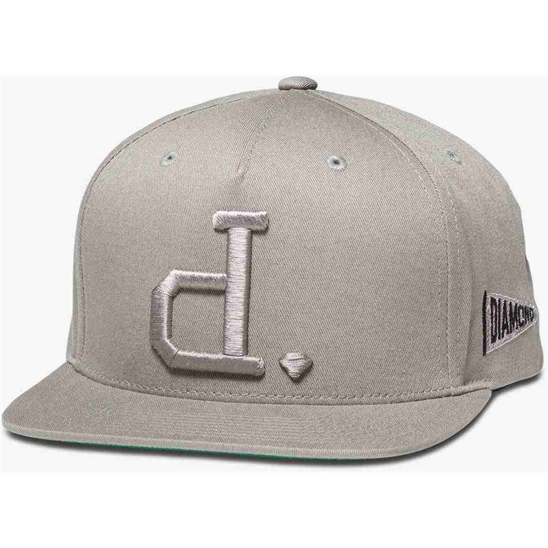 kšiltovka DIAMOND - Un Polo Snapback Heather Grey (HTGR)