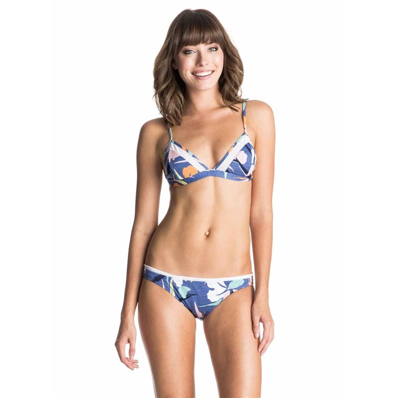 plavky ROXY - Fixed Tri/Surfer Noosa Floral Combo Chambray (PMK6)