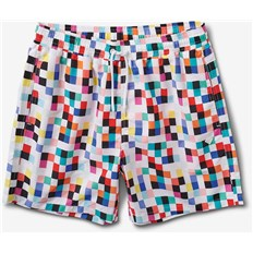 plavky DIAMOND - Pixel Board Shorts White (WHT)