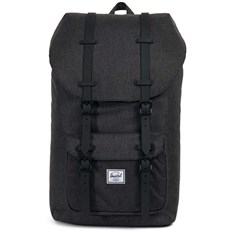 batoh HERSCHEL - Little America Black Crosshatch-Black Rubber (02093)