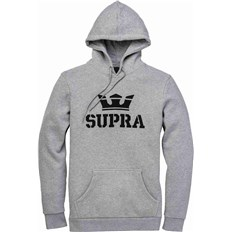 mikina SUPRA - Above Pullover Hood Grey Heather-Blk-Blk (087)