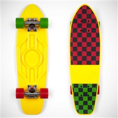 cruiser DUSTERS - Mighty Cruiser Yellow/Rasta Checker (YELLOW/RASTA CHECKER)