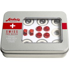 ložiska ANDALE - Andale Swiss Tin Box 8 Pk Red (RED)