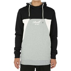 mikina REELL - Color Block Hoodie Black/Grey-Mel./Cream (BLACK-GREY-MEL.-CREA)