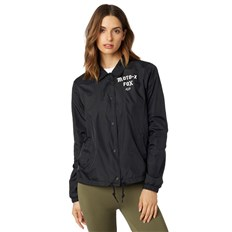 bunda FOX - Pit Stop Coaches Jacket Black (001)