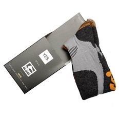 ponožky GLOBE - Yes/Globe Pow Pow Sock Grey/Orange (GRYORG)