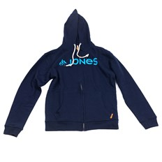 mikina JONES - Jones Basic Zip Hood Black Iris (BLACK IRIS)