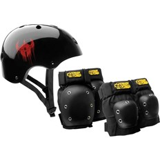 chrániče DARKSTAR - Helmet And Pad Pack Black (BLACK)