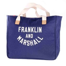 taška FRANKLIN & MARSHALL - Varsity shopper - dark blue solid (25)