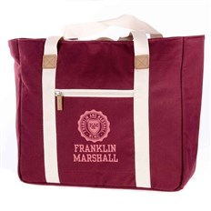 taška FRANKLIN & MARSHALL - Classic shopper - bordeaux solid (30)