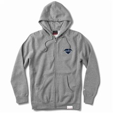 mikina DIAMOND - Viewpoint Zip Hoodie Sp18 Heather Grey (HTGR)