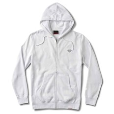 mikina DIAMOND - Micro Brilliant Zip Hoodie White (WHT)