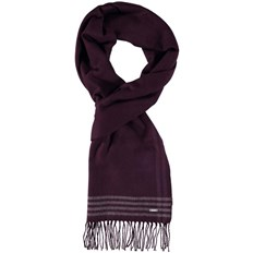 šála BENCH - Woven Check Scarf Dark Burgundy (BU017)
