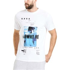 triko BENCH - Photoprint Graphic Tee Bright White (WH11185)