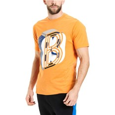 triko BENCH - Graphic Tee Flame Orange Marl (MA1056)