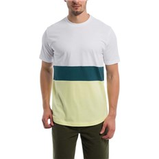 triko BENCH - Colorblock Stripe Tee Bright White (WH11185)