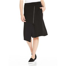 sukně BENCH - Sweat Skirt Asymetrical Zip Front Black Beauty (BK11179)