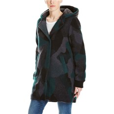 bunda BENCH - Wool Coat With Nylon Hood Wool Jacquard Black/Ponderosa/ (P1150)