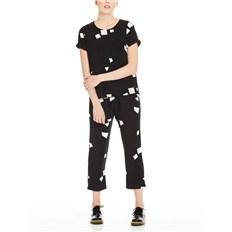 kombinéza BENCH - Jumpsuit Aop Simple Graphic Black Beauty +  (P1087)