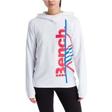mikina BENCH - Active Logo Hoodie Bright White (WH11185)