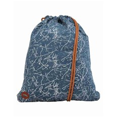 gymsack MI-PAC - Kit Bag Denim Squiggle Mid Blue/White (005)