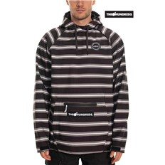 mikina 686 - Hundreds Waterproof Hoody Black Stripe (BLK)
