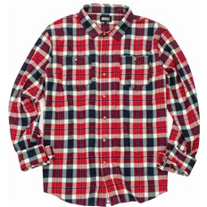 košile GRIZZLY - Outfield Ls Woven Red (RED)