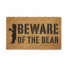 rohožka GRIZZLY - Beware Doormat Natural (NAT)