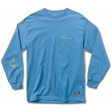 triko GRIZZLY - Stay Lit L/S Tee Pacific Blue (PBLU)