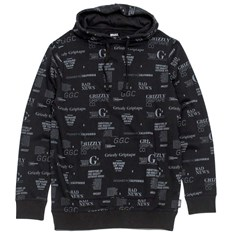 mikina GRIZZLY - Front Runner Pullover Hoody Black (BLK)