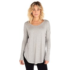 triko RIP CURL - Salted Long Sleeve Tee Cement Marle  (4880)