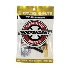 šroubky INDEPENDENT - Genuine Parts Phillips Hardware Black/Gold Bx12 Pks/8 (88780)