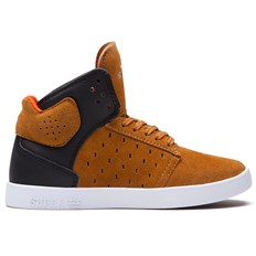 boty SUPRA - Kids Atom High Brown/Black (BNB)