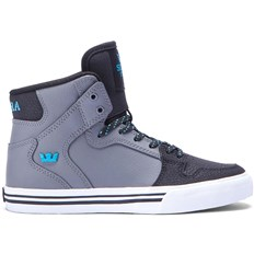 boty SUPRA - Kids Vaider Charcoal/Black/Turquoise-White (CCB)