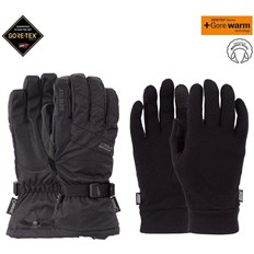 rukavice POW - Warner GTX Long Glove + WARM Black (BK)