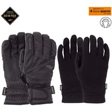 rukavice POW - Warner GTX Short Glove + WARM Black (BK)