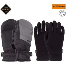 rukavice POW - Warner GTX Short Mitt + WARM Charcoal (CH)