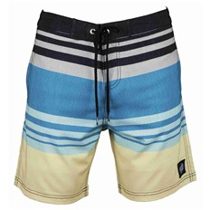 plavky SANTA CRUZ - Shoreline Boardie Blue Stripe (BLUE STRIPE)