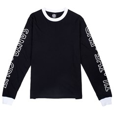 triko SANTA CRUZ - Screaming Skull L/S Tee Black (BLACK)