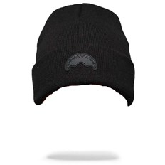 kulich SPRAYGROUND - Black Rubber Shark Beanie (000)
