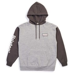 mikina BRIXTON - Palmer Intl Hood Heather Grey-Charcoal (HTGCH)