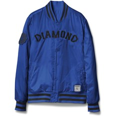 bunda DIAMOND - Dugout Varsity Jacket Blue (BLUE)